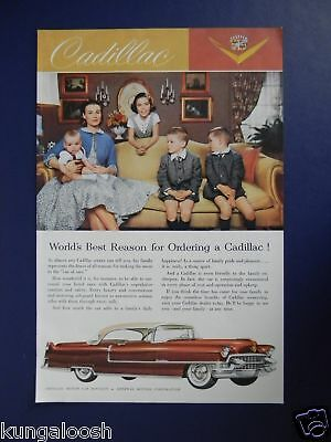 1955 World's Best Reason For Ordering A Cadillac Car Ad