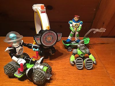 Fisher Price Original 2006  PLANET HEROES Action Figures Lot + Vehicles