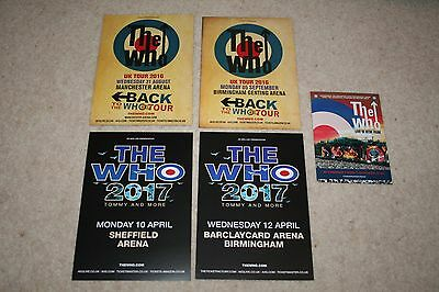 The Who - 4 Promo A5 Flyers Manchester/sheffield/birmingham & Hyde Park Postcard