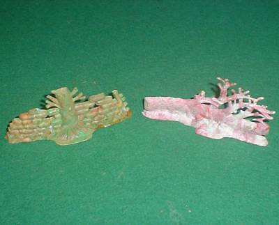 CHARBENS 1960's PLASTIC FALLEN TREE & WALL/TREE FROM ORIGINAL 1940's LEAD MOULDS