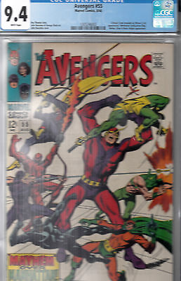 Avengers #55 (Aug 1968) * CGC 9.4 (NM)  WHITE PAGES * 1st full ULTRON  *