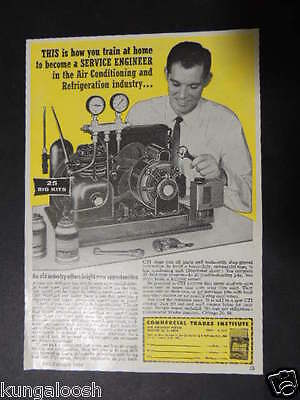 1958 Commercial Trades Institute Become A Service Engineer Vintage Photo Ad