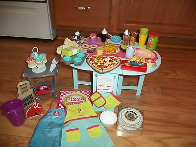 American Girl Doll Baking Table, (Retired) Cart,  and Many  More Accessories!!