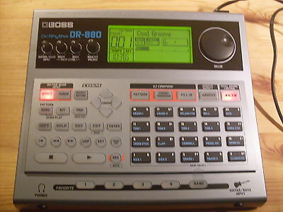 Boss Dr880 Dr Rhythm Drum Machine With Power Supply, Manual & Free Uk Post