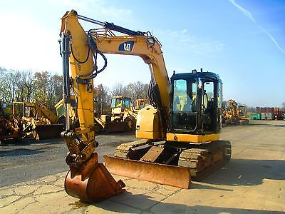 2007 Caterpillar 308D Hydraulic Excavator, Full Cab, Street Pads, 4684 Hours