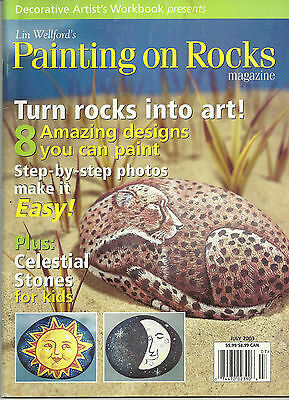 Lin Wellford's Painting On Rocks Magazine July 2003