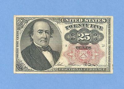 FR 1308 Fifth Issue 25 Cents Robert Walker Fractional Currency Uncirculated