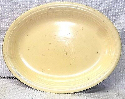 Vintage FIESTA Oval Platter, Homer Laughlin Ivory Color Glaze Early 1950's