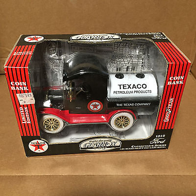 Gearbox Texaco 1912 Ford Oil Tanker # 76608 LE Coin Bank 1:24 Scale NEW IN BOX