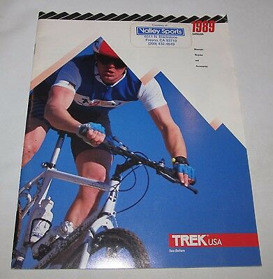 1989 Trek Road and Mountain Bike Bicycle Catalog, full line, double cover