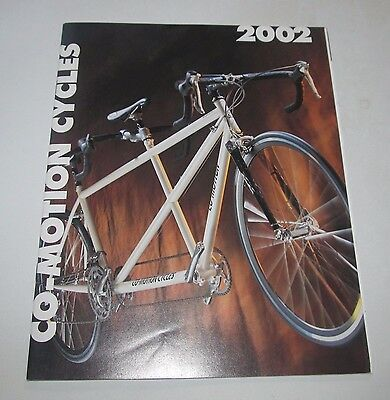 2002 Co-Motion Cycles Tandem & Road Bicycles Catalog