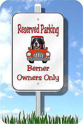 Bernese Mountain Dog Parking sign metal novelty