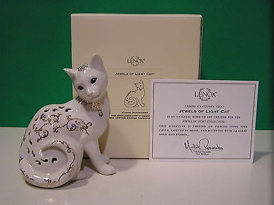 LENOX JEWELS OF LIGHT CAT Kitten sculpture NEW in BOX with COA