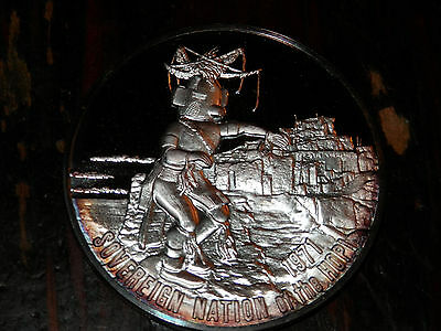 NATIVE AMERICAN - NATION of the HOPI .82 oz .999 Silver Round FRANKLIN MINT