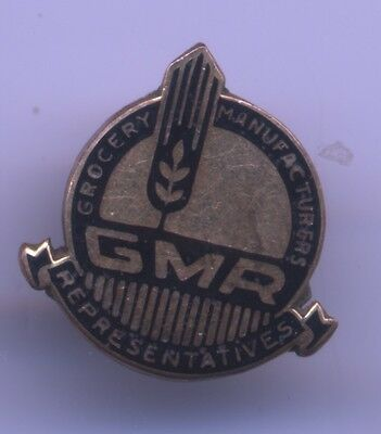 Vintage GROCERY Manufacturers Representatives GMR Employee Service Enameled PIN