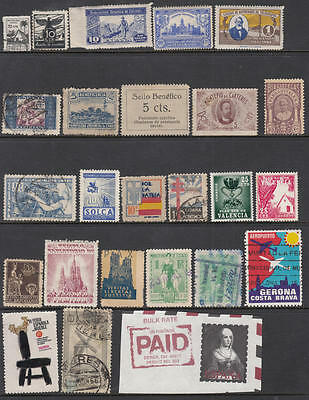 Spain Charity Stamps & Cinderellas collection 24 diff stamps