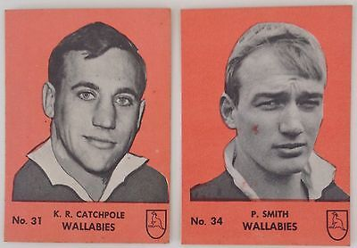 Playtime Famous Rugby Players Gum Cards All Blacks Wallabies Scanlens Regina Nz