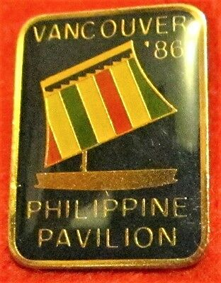 EXPO 86 PHILIPPINES PAVILION Pin Mint 1986 Vancouver BC