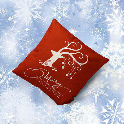 Christmas Deer Sofa Bed Home Decoration Festival Pillow Case Cushion Cover HOT
