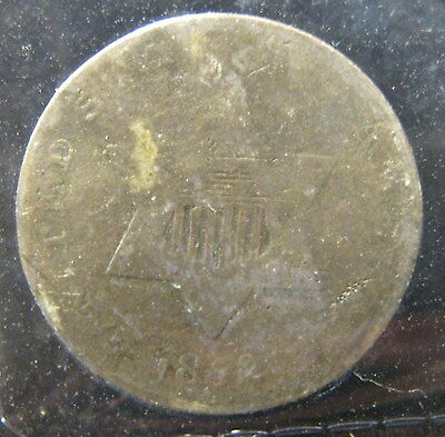 1852  3 Cent Silver - Good   P-1