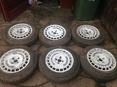 6X Compomotive Alloy 6x16 Inch Wheels Ford Fit