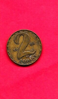 Hungary Hungarian Km591 1984 Vf-Very Fine-Nice Old 2 Forint Coin