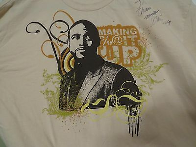 """Autographed Wayne Brady Making Sh!t Up T Shirt  Comedy Actor """"Let's Make A Deal"""""""