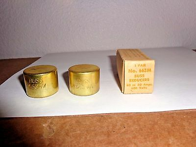 1 Paiir of BUSS Fuse Reducers  663M NEW in Box 60-30A 600V