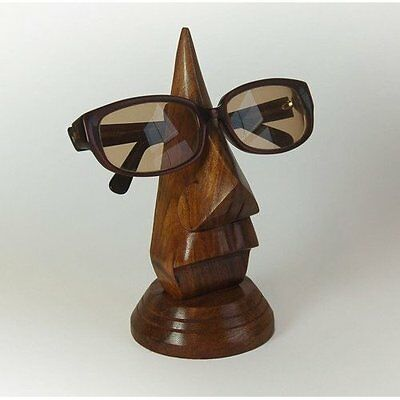 Wooden Nose-Shaped Spectacles / Glasses Holder / Stand