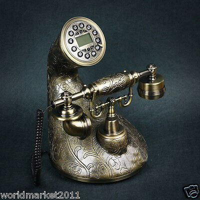 European Style High Grade Resin Creative Modeling Antique Ancient Dial Telephone