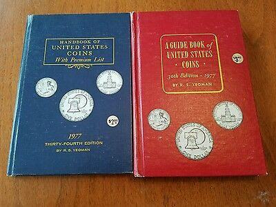 Lot of 2 1977 Blue & Red HandBook of United States Coins Dealer Guide