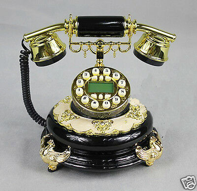 New Black Resin High Grade European Imitation Classical Dial Telephone