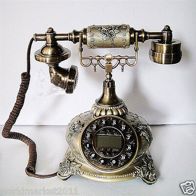 High Grade European Style Creative Carvinhg Patterns Antique Dial Telephone