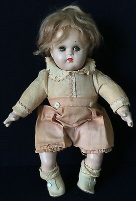 """11"""" Compoisition & Cloth Mme. Alexander Baby Doll W/mohair Wig"""