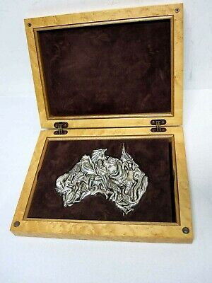 "Rare Signed Logi Sterling Silver ""discovery Of Australia"" Puzzle Lmt Ed #44 Mib"