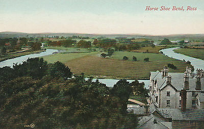 Vintage Colour  Postcard -  Horse Shoe Bend - Ross On Wye - Herefordshire