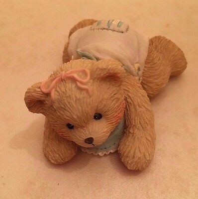 1993 Cherished Teddies 624896 Betsey First Step Love Baby Bear Crawling Figurine