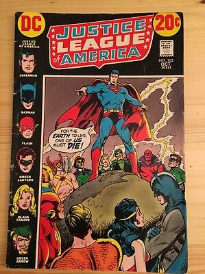 "1972 DC Comics #102 JUSTICE LEAGUE of AMERICA ""And One Of Us Must Die"""
