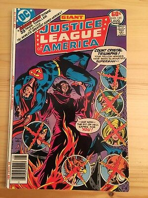 "1977 DC Comics #145 JUSTICE LEAGUE of AMERICA ""Carnival Of Souls"""