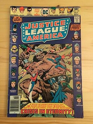 "1976 DC Comics #135 JUSTICE LEAGUE of AMERICA ""Crisis In Eternity"""