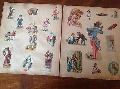 12 pages 24 sides filled with alovely assortment of Victorian Scraps  in V.G.C.