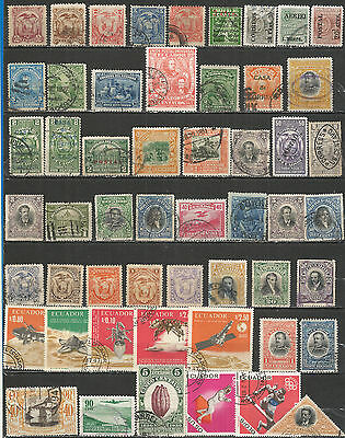 Ecuador from 1881 nice old stamps collection , mint / used