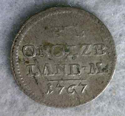 GERMAN STATES BRANDENBURG ANSBACH 1767 XF GERMANY SILVER COIN ( stock# 0351)