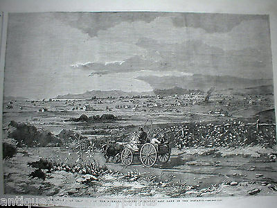 The Great Salt Lake City Of The Mormons Looking West Beautiful Rare Print - 1858