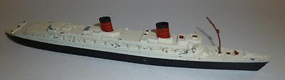 Triang Minic Vintage Diecast Waterline Ship Rms Queen Elizabeth - 1950/60's