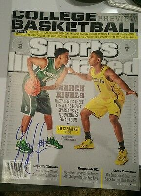 Gary Harris signed autographed Sports Illustrated Michigan State basketball MSU