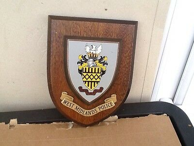 West Midlands Police Wooden Wall Plaque - Good Condition