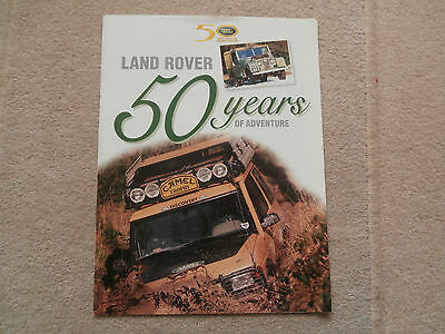 Land Rover 50 years of Adventure brochure .Voque.Defender.Collector's Edition