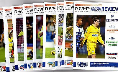2001-2002 Tranmere Rovers  v Your Choice select from drop down list