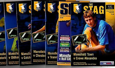 2002-2003 Mansfield Town Home Programmes - select the one you want POST FREE